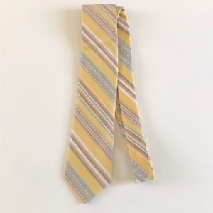 Ted Baker yellow spring time striped floral tie